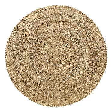Straw Loop Round Natural Placemat