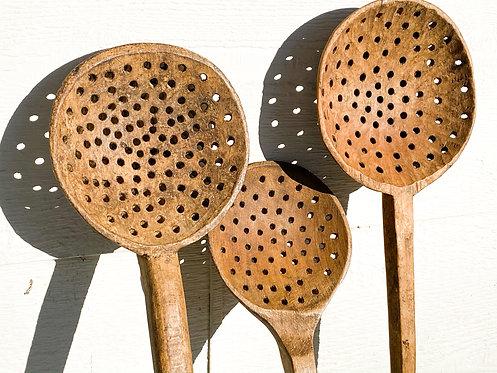 Antique Hungarian Pasta Spoon