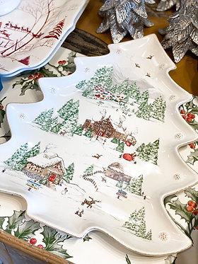 Berry & Thread North Pole Tree Platter