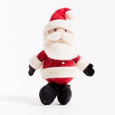 Ornament - Santa Charcoal Boots