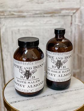 Bubble Bath & Bath Salts - Honey Almond