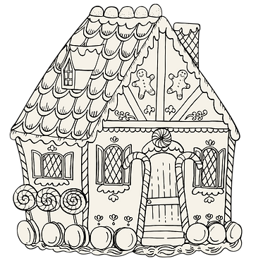 Placemat - Coloring Gingerbread House
