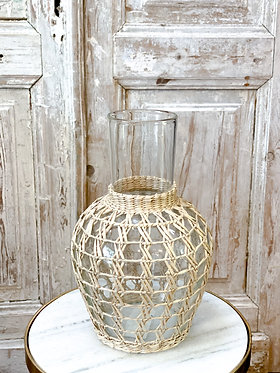 Seagrass Round Cage Carafe