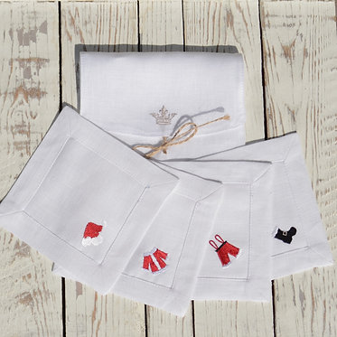 Cocktail Napkin Set - Santa Assortment