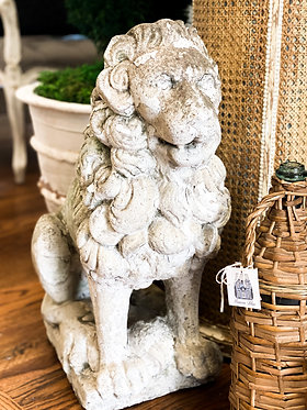 Antique Lion Garden Statue