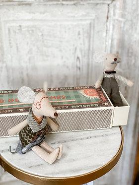 Grandma & Grandpa Mice in Matchbox