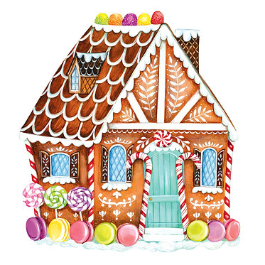 Placemat - Gingerbread House