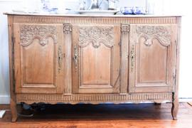 Antique Oak Hand Carved Buffet