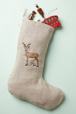 Small Stocking - Deer with Lights