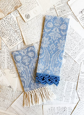 Busatti Guest Towel - Donna di Coppe - Wode Blue