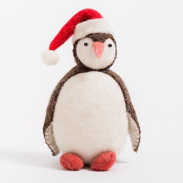 Ornament - Penguin with Santa Hat