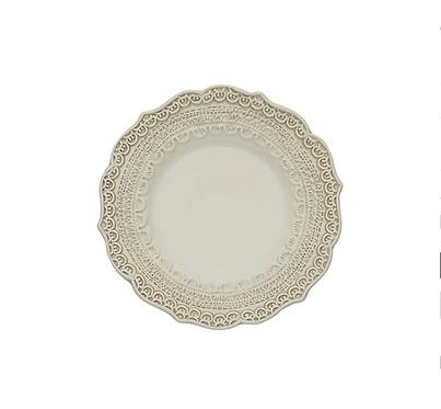 Bread Plate - Finezza Cream