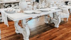 Italian Lyre Dining Table