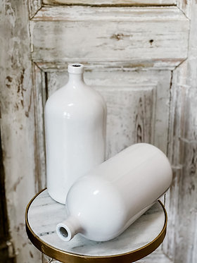White Mod Seltzer Vase