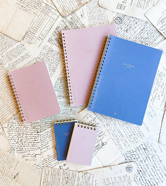 Textured Twin Wire Notebook