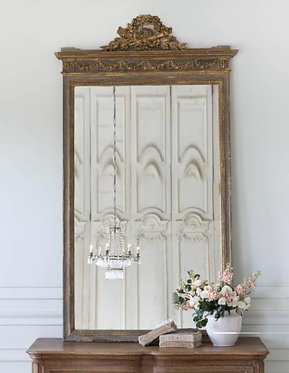 Antique Floral Garland Wall Mirror