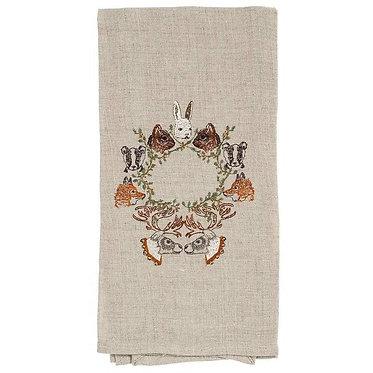 Tea Towel - Peek-a-wreath