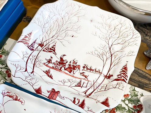 Country Estate Winter Frolic - Santa's Cookie Tray Naughty & Nice List