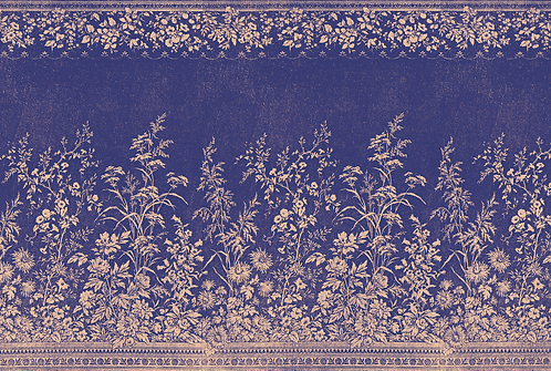 Placemat - Navy Woven Floral