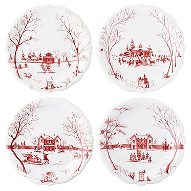 Country Estate Winter Frolic - Party Plates