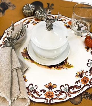 Elk Porcelain Lidded Bowl