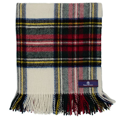 Highland Tartan Tweed Lap/Shoulder Throw - Dress Stewart