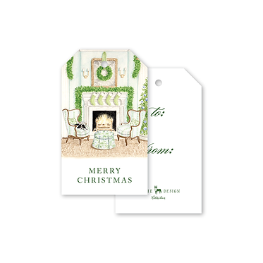 Gift Tags - Fireplace Scene