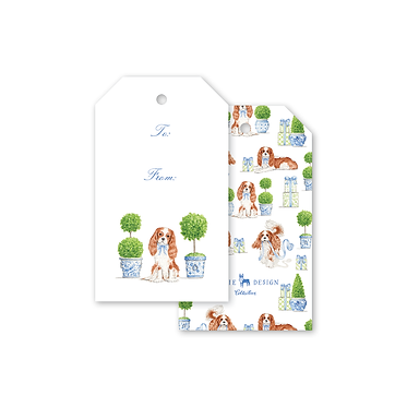 Gift Tags - Dash Topiary and Toile