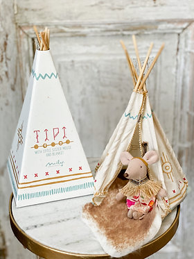 Little Feather in Teepee