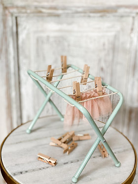 Clothes Drying Rack with Clothespins
