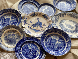 Antique Blue & White Dishes