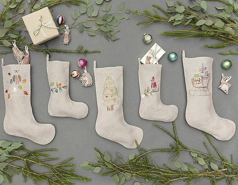 Large Stocking - Santa's Sleigh