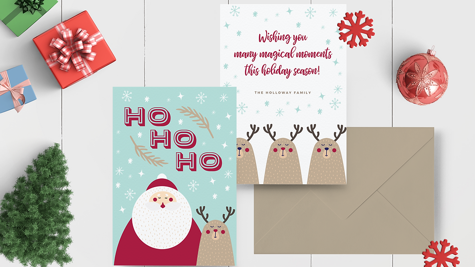HO HO HO Personalized Card