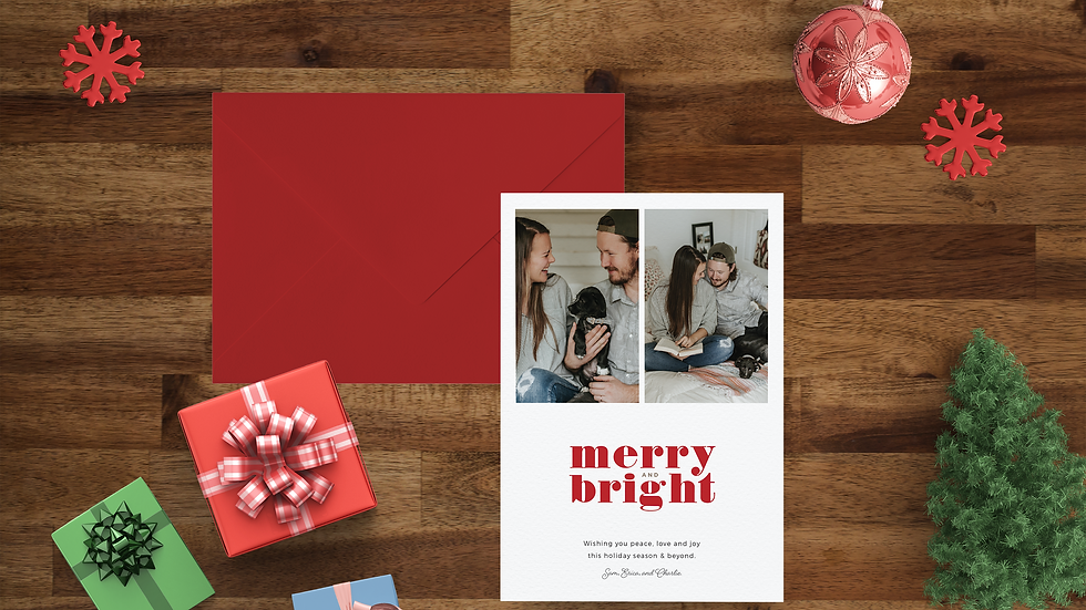 Merry + Bright Holiday Card