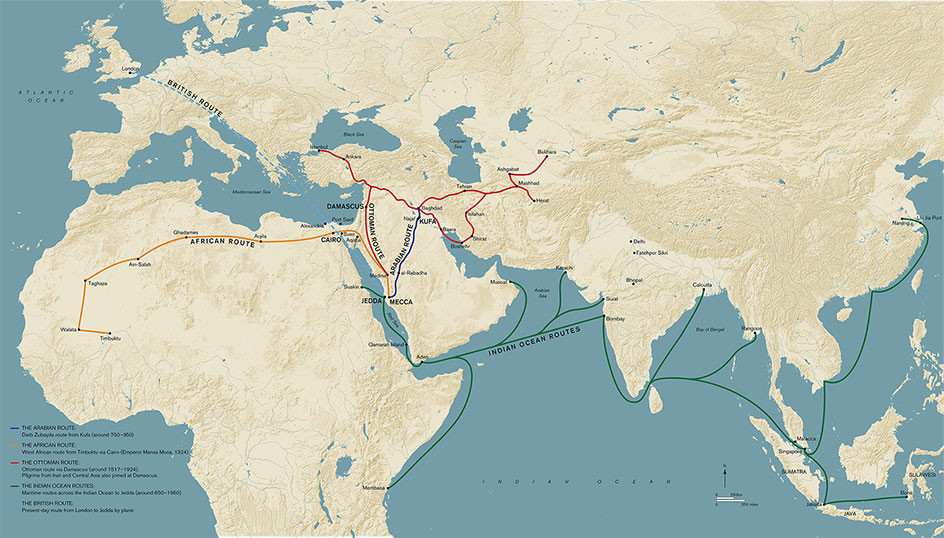 Sea route to Hajj from India