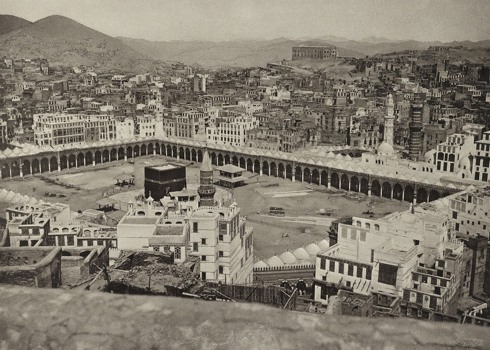 Old Picture of Mecca and Kaaba dating 1887 (1800s)