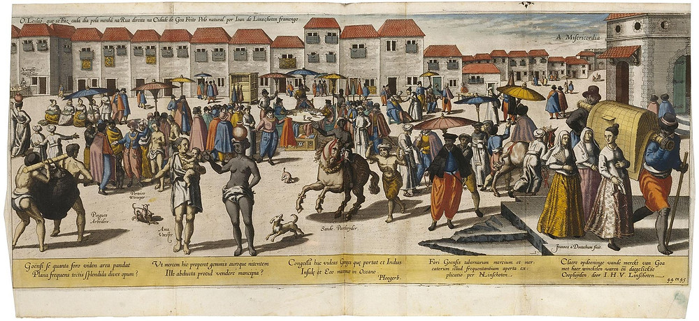 Depiction of Market Place in Goa