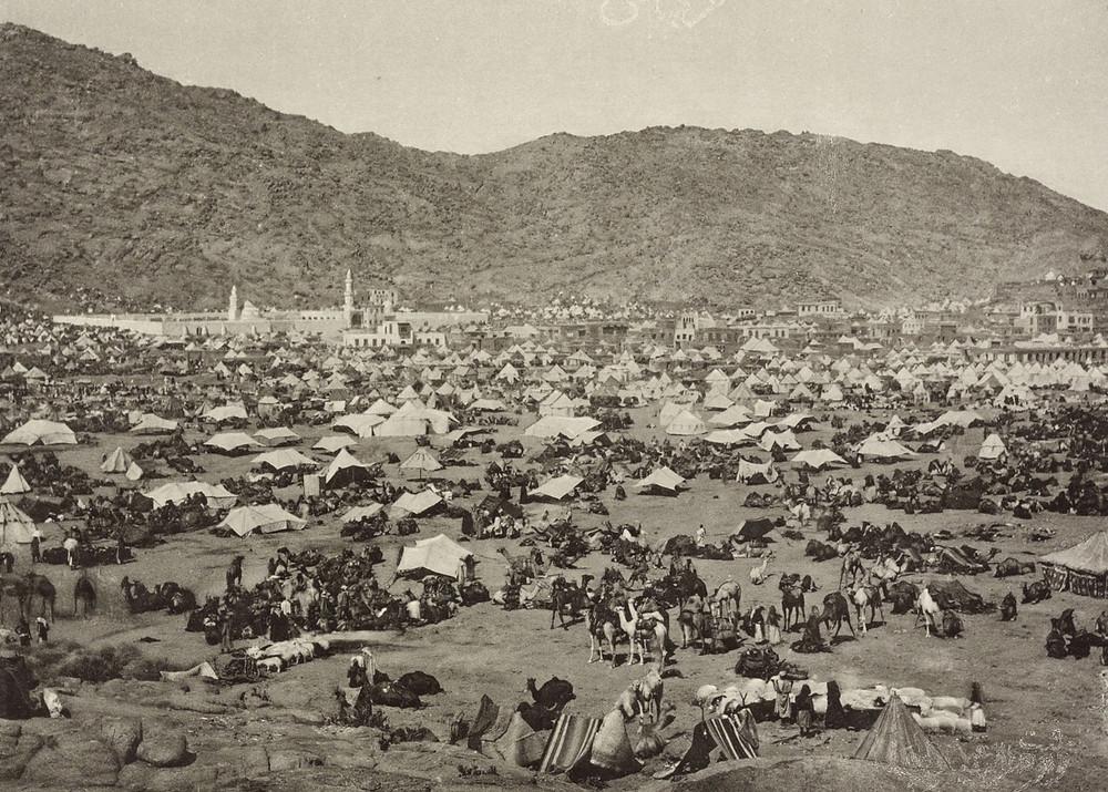Hajj Pilgrims in Mina 1800s