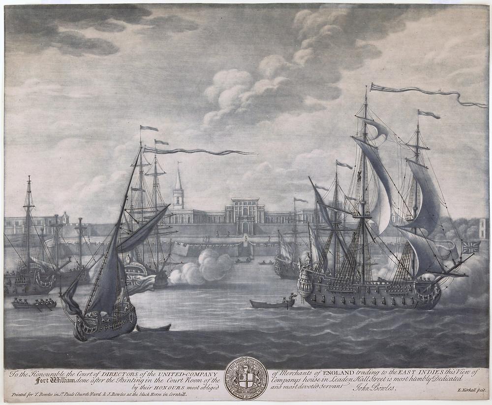 Fort William of Calcutta C. 1735