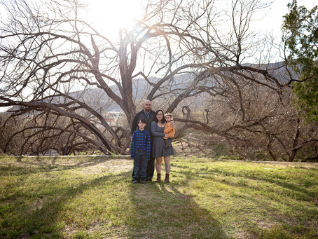The Caad's | Sunset through the trees | Family Session