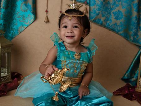 A whole new world - Ameena is ONE! | Lantana Cake Smash Photographer | Grace Ashley Images