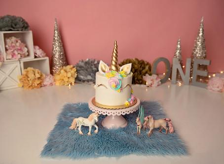Unicorns + Magic | Happy First Birthday, Valerie | Cake Smash
