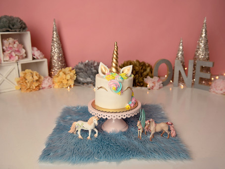 Unicorns + Magic | Happy First Birthday, Valerie | Cake Smash