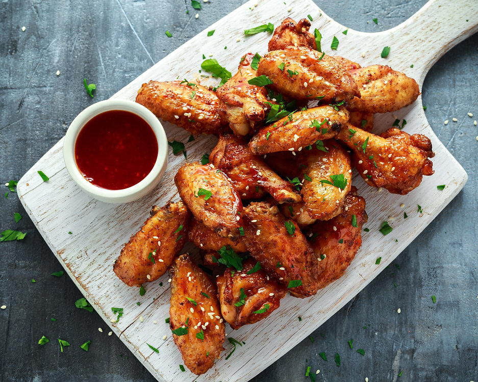 Baked chicken wings with sesame seeds an