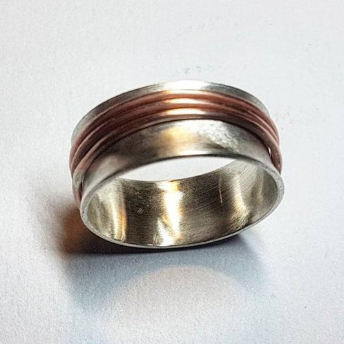 How to make copper spinner rings