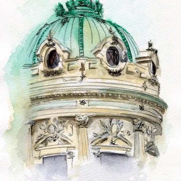 7x9 Paris Opera House