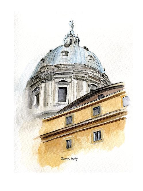 "8.5"" x 11"" print of Rome, Italy"