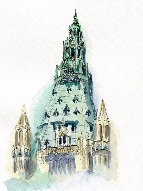 "Original 7""x9""  Woolworth Building, NYC"