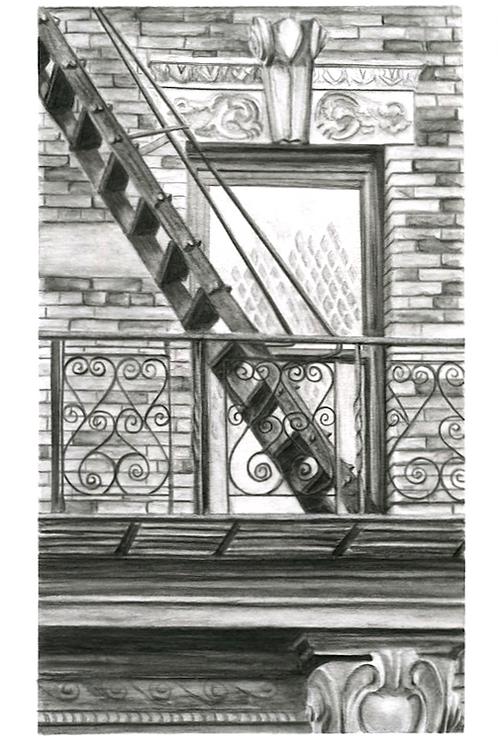 Original Brooklyn Fire Escape drawing