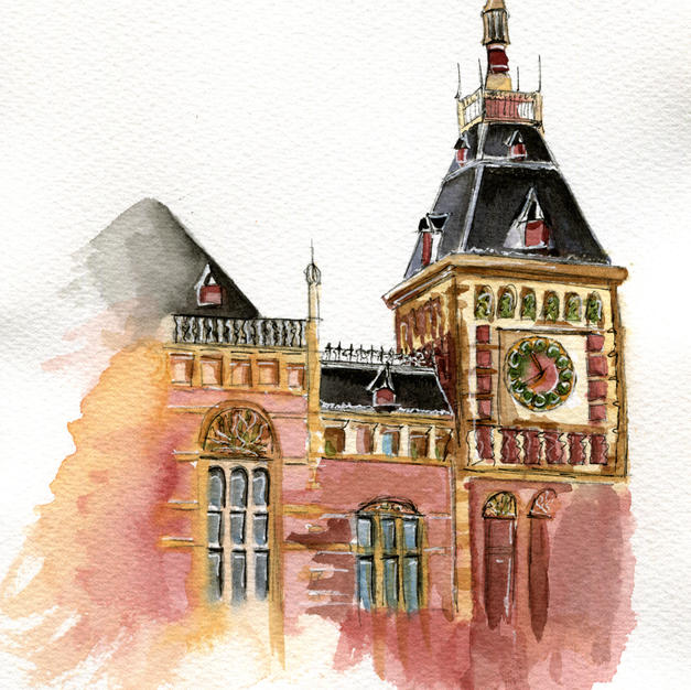 7x9 Centraal Station, Amsterdam
